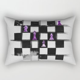 Chessboard and Amethyst  Chess Pieces composition Rectangular Pillow