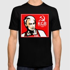 KGB FLAVOR LARGE Black Mens Fitted Tee