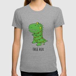 Tree Rex Funny Dinosaur Christmas T-shirt T-shirt