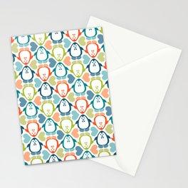 penguin love pattern 5 Stationery Cards
