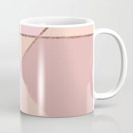 Modern rose gold peach blush pink color block Coffee Mug
