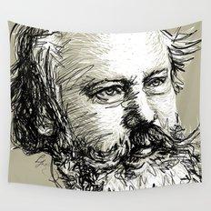 Johannes Brahms BW Wall Tapestry