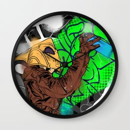 World peace! What he means is a piece of the world. Wall Clock