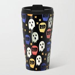 Ghost and Gravestone Halloween Travel Mug