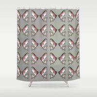 trout Shower Curtains featuring Rainbow Trout by Emi Claire Brown
