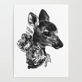 Fawn & Flora I Poster