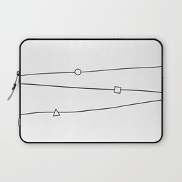 Lines and geometric shapes, simple Laptop Sleeve