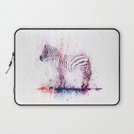 Watercolor Wash Zebra Laptop Sleeve
