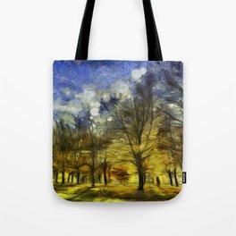 Greenwich Park London Van Gogh Tote Bag