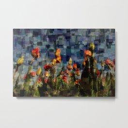 Champ de Tulipes Mosaïque Metal Print