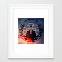 anonymous Framed Art Prints featuring Anonymous by Sney1