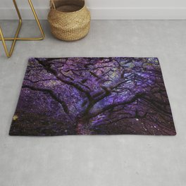 Mystic Tree of Knowledge Purple Rug