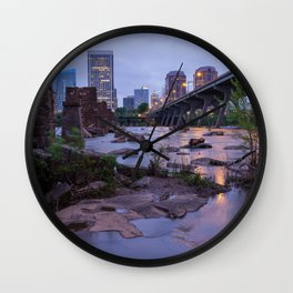 Moody Richmond Cityscape From The James River Wall Clock