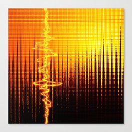 Sound wave orange Canvas Print