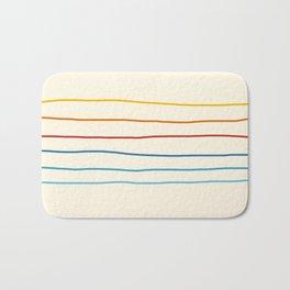 Abstract Retro Stripes #1 Bath Mat