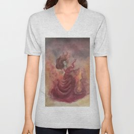 Elemental Witch - Fire Unisex V-Neck