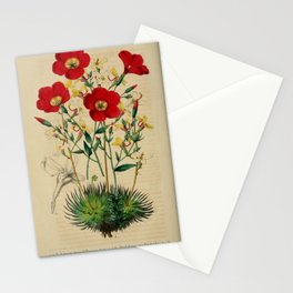 Flower linum grandiflorum stylidium saxifragoides13 Stationery Cards