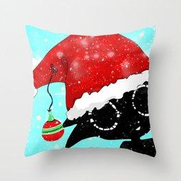 Santa Bloop Throw Pillow