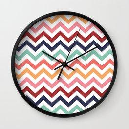 Chevron Zigzag Multicolor Wall Clock