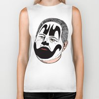 rush Biker Tanks featuring Rush Juggalaugh by Chris Piascik