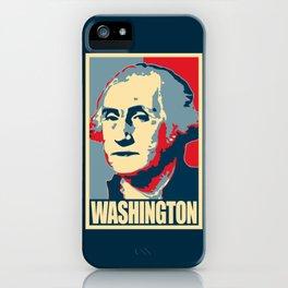 George Washington Propaganda Pop Art iPhone Case