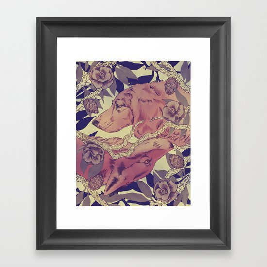 Right under your nose Framed Art Print