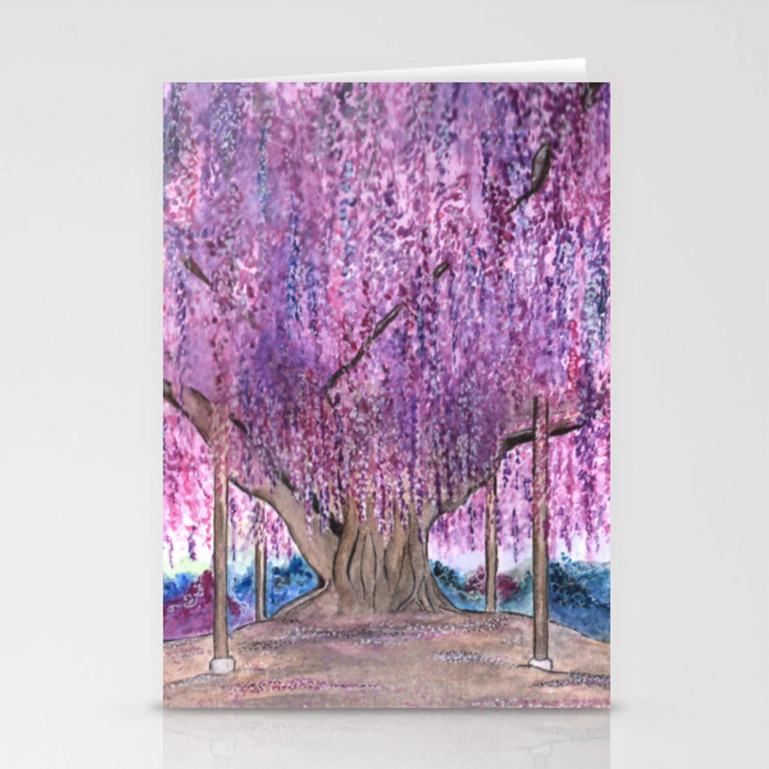 150 Years Old Wisteria Tree Sacred Tree Series Stationery Cards