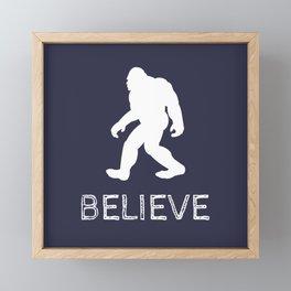 "Bigfoot Sasquatch ""BELIEVE"" Framed Mini Art Print"