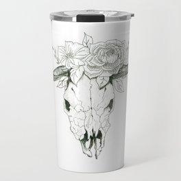 Bull Skull Travel Mug