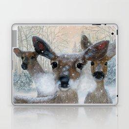 Deer in the Snowy Woods Laptop & iPad Skin