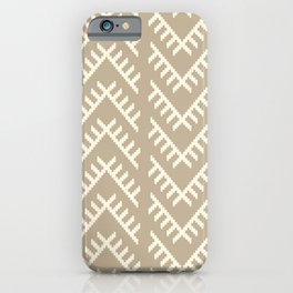 Stitched Arrows in Tan iPhone Case