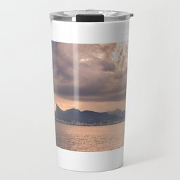 Heavens Burst over Christ the Redeemer Travel Mug