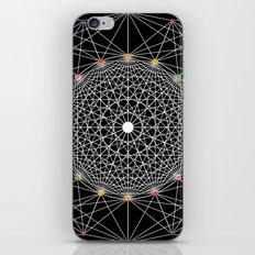 Geometric Circle Black/White/Colour iPhone Skin