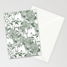 just goats dark green Stationery Cards