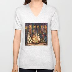 Camp Meeting By Helen Green Unisex V-Neck
