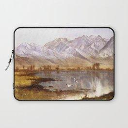 Albert Bierstadt - Wasatch Mountains, Utah Laptop Sleeve
