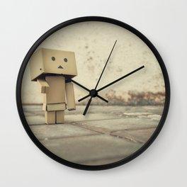 Danbo on the street Wall Clock