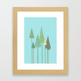 Spring Trees Framed Art Print