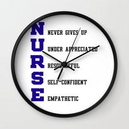 Nurse Definition Wall Clock