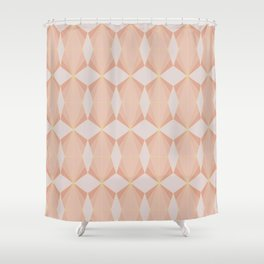 geometry art decó in pink and mauve Shower Curtain