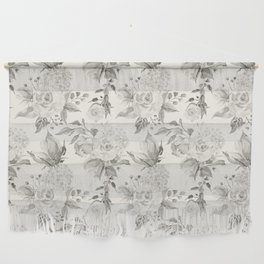 Roses in Grey and Beige Wall Hanging
