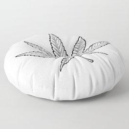 Minimal Marijuana Floor Pillow
