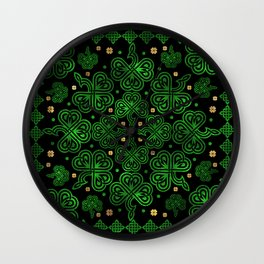 Shamrock Clover Ornament Wall Clock