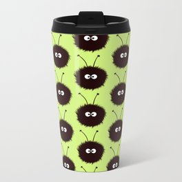 Green Cute Dazzled Bugs Pattern Metal Travel Mug