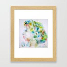 INGRID BERGMAN - watercolor portrait Framed Art Print