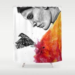 Goodbye depression Shower Curtain