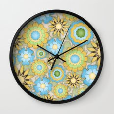 English Country Floral Wall Clock