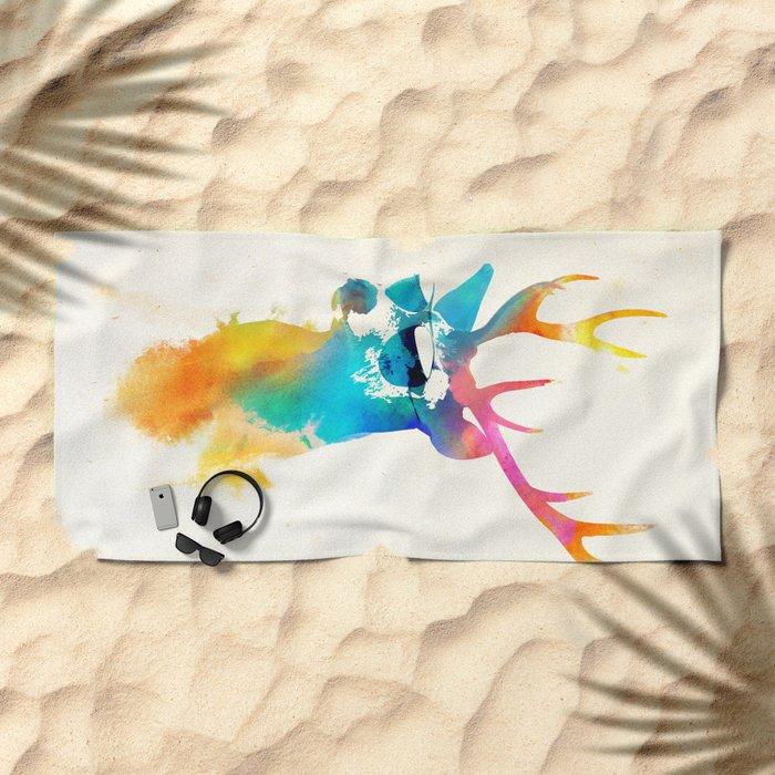 Sunny Stag Beach Towel