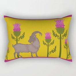 Mountain Goat + Thistle Rectangular Pillow