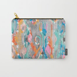 rainy day balinese ikat Carry-All Pouch